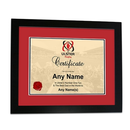 Framed Print -Fathers Day- Certificate