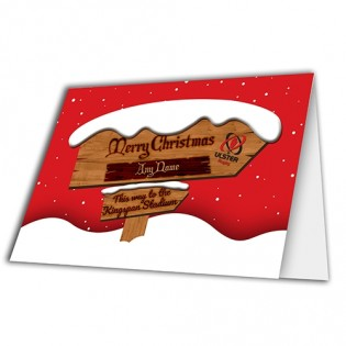 Greeting Card Christmas Sign