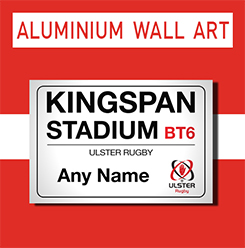 Ulster Rugby Personalised Wall Art