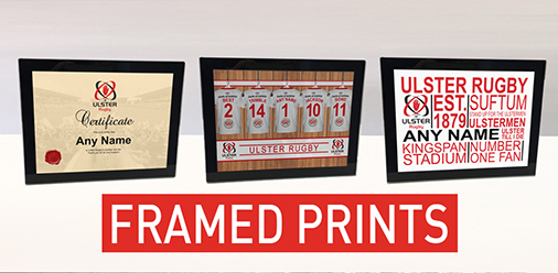 Ulster Rugby Personalised Framed Prints
