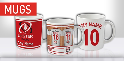 Ulster Rugby Personalised Mugs