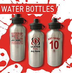 Personalised Ulster Rugby Water Bottles